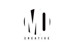 MQ M Q White Letter Logo Design with Circle Background. Royalty Free Stock Image