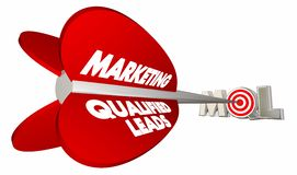 MQL Marketing Qualified Sales Leads Bow Arrow Target Stock Photography