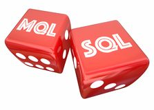 MQL SQL Marketing Sales Two Dice Rolling Royalty Free Stock Images