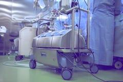 Máquina cardiopulmonar de puente durante cirugía de corazón Fotos de archivo