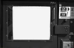 Máquina da caixa do jornal em preto e branco Imagens de Stock Royalty Free
