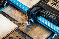 Máquina da folha de metal do laser Imagens de Stock