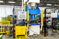 Máquina da imprensa hidráulica Foto de Stock Royalty Free
