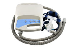 Máquina de CPAP com trajeto de grampeamento Fotos de Stock Royalty Free