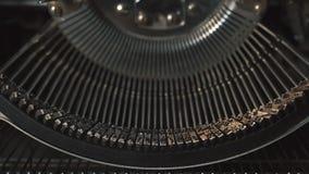 Máquina de datilografia do vintage, detalhe filme