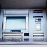 Máquina de dinheiro do ATM - máquina de caixa automatizado Imagens de Stock Royalty Free