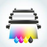 Máquina de impressão Imagem de Stock Royalty Free