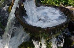 Máquina de lavar de madeira Fotografia de Stock Royalty Free