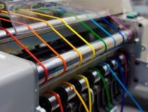 Máquina de materia textil Imágenes de archivo libres de regalías