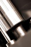 Máquina de torneado del eje como industria del concepto Foto de archivo