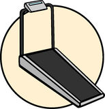 Máquina do exercício de escada rolante Fotos de Stock Royalty Free