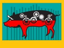 Máquina do porco Fotos de Stock Royalty Free
