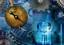 Máquina do tempo de Steampunk Fotos de Stock Royalty Free