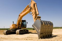 Máquina escavadora Imagem de Stock Royalty Free