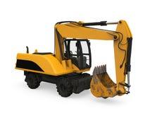Máquina escavadora amarela Isolated Imagem de Stock