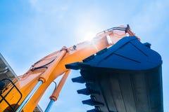 Máquina escavadora da pá na empresa alugado Fotografia de Stock