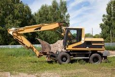 Máquina escavadora; pá de poder; pá de vapor; mashine do movimento de terras; dre Imagem de Stock Royalty Free