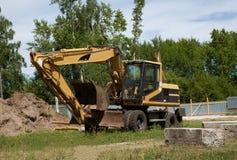 Máquina escavadora; pá de poder; pá de vapor; mashine do movimento de terras; dre Fotos de Stock