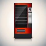 Máquina expendedora con los estantes, coloor rojo Fotos de archivo