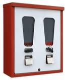 Máquina expendedora roja y blanca Imagenes de archivo