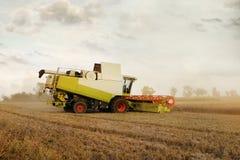 Máquina segadora en el maíz Fotos de archivo libres de regalías