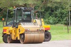 Máquinas de la construcción de carreteras Fotografía de archivo