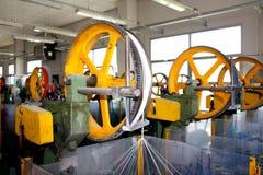Máquinas del tejido Foto de archivo