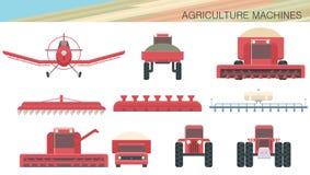 Máquinas e aviação da agricultura Fotografia de Stock Royalty Free