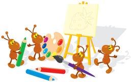 mrówka artyści Obraz Stock