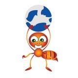 Mrówka z światem Obraz Stock