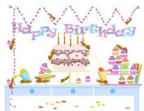 Mrówki świętują urodziny, znak, tło Zdjęcie Royalty Free