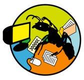 mrówki multitasking pracownika Zdjęcia Stock