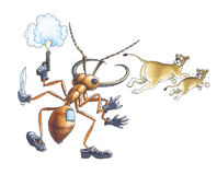mrówki wojsko royalty ilustracja