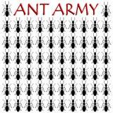Mrówki wojsko - ilustracja Fotografia Royalty Free