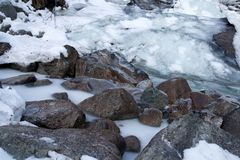 mróz rzeka Obraz Royalty Free