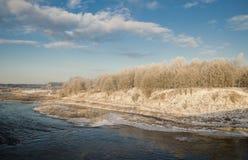 Mróz w Kuldiga Zdjęcie Stock
