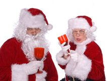 Mr. And Mrs. Claus Are Drunk Royalty Free Stock Photography