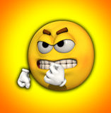 Mr Angry. Image of a very angry yellow cartoon man Stock Images