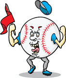 Mr. Baseball. This is a cheering baseball; he is intense Stock Photo