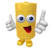 Mr Battery mascot Royalty Free Stock Photography