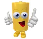 Mr Battery mascot. Mr Battery 3d mascot illustration Royalty Free Stock Photography