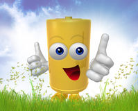Mr Battery mascot Royalty Free Stock Photo