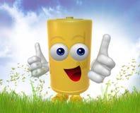 Mr Battery mascot. Mr Battery 3d mascot illustration Royalty Free Stock Photo