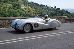 Mr Bean (R. Atkinson) driving the BMW 328 Roadster Royalty Free Stock Images