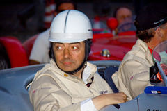 Mr. Bean (Rowan Atkinson) in the Mille Miglia. The English comedian, screenwriter, and actor, Rowan Sebastian Atkinson participates in the Mille Miglia of 2011 Stock Photo