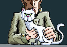 Mr Blofeld and his cat Stock Photo