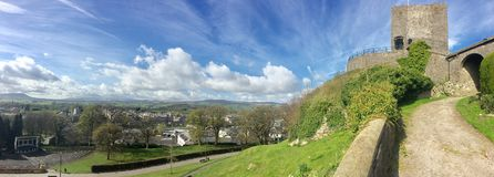 Mr blue sky is here today. Clitheroe castle 2017 Royalty Free Stock Photo