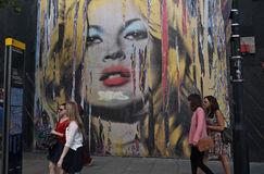 Mr Brainwash's Street Art exhibition Royalty Free Stock Image