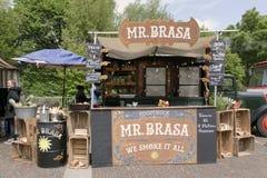 Mr brassa jedzenia ciężarówka w Amsterdam Zdjęcie Stock