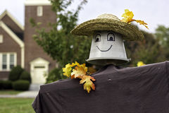 Mr. Bucket. It is a halloween art with bucket head and hat Royalty Free Stock Photography